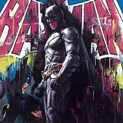 Gotham Hero by Zinsky - Hand Finished Limited Edition on Canvas sized 26x26 inches. Available from Whitewall Galleries
